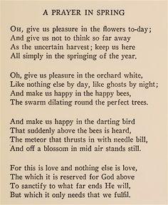A Prayer In Spring Poem by Robert Frost (1915)