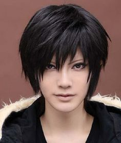 Men's Death Note Male Black Short Spiky Heat Resistance Cosplay Anime Wig