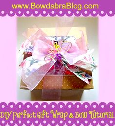 Adorable way to DIY wrapping of a box and bow!