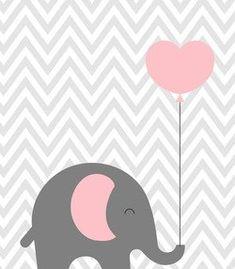 Kids Room Art, Art Wall Kids, Elephant Art, Baby Elephant, Scrapbooking Image, Baby Love Quotes, Tumblr Iphone Wallpaper, Baby Illustration, Baby Koala