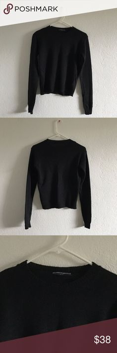 """Brandy Melville Abi sweater Soft blend wool crewneck sweater in dark grey. Brand new, never worn or washed.  Fabrics: 70% wool, 30% acrylic Measurements: 22"""" length, 18"""" bust Brandy Melville Sweaters Crew & Scoop Necks"""