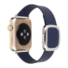 BonTech Soft Leather Band with Metal Buckle for Apple Watch (42mm Deep Blue) >>> For more information, visit now : Travel Gadgets
