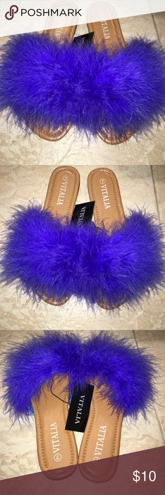 Royal Blue, Feather Flats💙 Super cute and trendy! Shoes Flats & Loafers