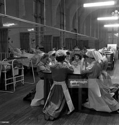 Leeds, 1956. Nurses praying for their patients before the start of a shift.