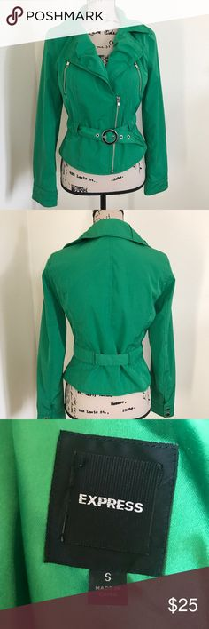 Bright Green Express Jacket Only worn once for a photo shoot. Really nice fitted fashion jacket. Express Jackets & Coats