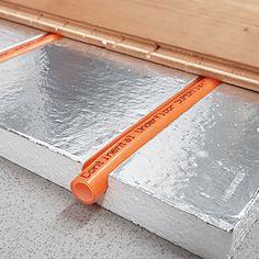 SlimFix® thun underfloor heating board Flat Roof Skylights, Water Underfloor Heating, Floating Floor, Radiant Floor, Victorian Cottage, House Tiles, Radiant Heat, Wooden Decks, Building A Shed