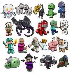 Lil' Minecraft Monsters REBOOT by *ghostfire on deviantART