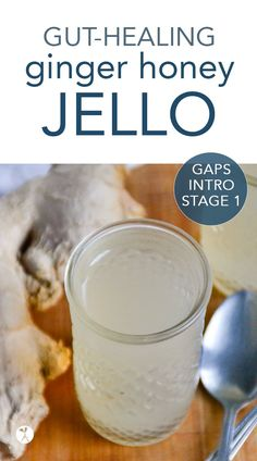 Whether you're going through the GAPS Intro Diet, or you just need a nice easy healing snack, this Ginger Honey Jello is for you! Gaps Diet Recipes, Primal Recipes, Real Food Recipes, Cooking Recipes, Paleo Meals, Paleo Food, Health Recipes, Vegetarian Food, Healthy Meals