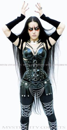 OMG love it soo black metal! Mystic city corsets