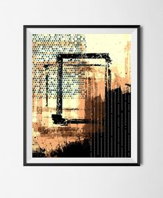 Download Printable Art, Abstract Geometric Poster,Grunge, Wall Art, Stains,Pattern, Noise, Digital Overlapping Shapes, Halftone, Circles, by STRNART on Etsy
