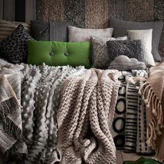 Love all the different sweater blankets
