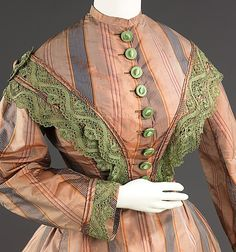 Dress, Afternoon, c. 1865, American silk,