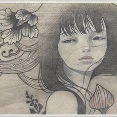 Audrey Kawasaki art #drawing #painting #asian manga