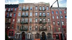 Ev history, when it comes to NYC's music and art scenes (the Velvet Underground, New York Dolls and Jean-Michel Basquiat are among the notable names that made it their stomping grounds). Brit rockers Led Zeppelin became part of that storied past when artist Peter Corriston featured two buildings on the block on the cover for the band's 1975 album, Physical Graffiti. . 96-98 St. Mark's Pl between First Ave and Ave A