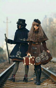 Steampunk Lolita Steampunk Design, Steampunk Diy, Steampunk Clothing, Steampunk Fashion, Steam Girl, Steam Punk, Vintage Gothic, Victorian Gothic, Harajuku Fashion