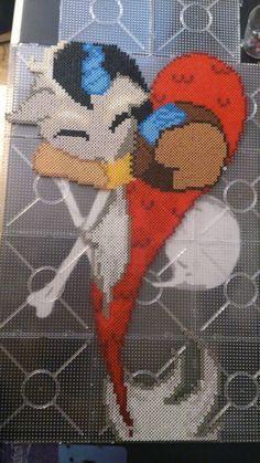 MLP Discord heart perler beads by chopperman199 on DeviantArt