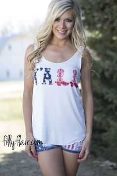 Y'all Graphic Tank - Perfect for summer! From fillyflair.com!
