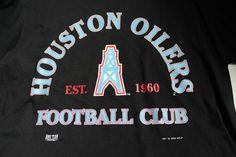 HOUSTON OILERS Shirt, 1994 Vintage Black Tshirt, Houston Oilers tshirt, Vintage NFL Short Sleeve T-shirt, Men's xl tshirt, new with tags