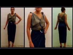 Cómo realizar una blusa con un cuadrante de tela, sin coser. Solamente con 3 nudos