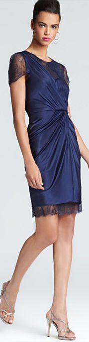 BCBGMAXAZRIA Dress - Sandrine Asymmetric Lace #lace #cocktail #dress