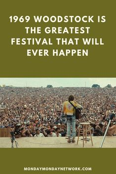 Woodstock, a once half-cocked idea, transformed into a monumental congregation of half a million people who laughed, danced, and sang together as equals. Rock And Roll Artists, Monday Monday, Rock N Roll Music, Live Rock, Pull Off, Popular Music, Michelle Obama, Woodstock, Musicians