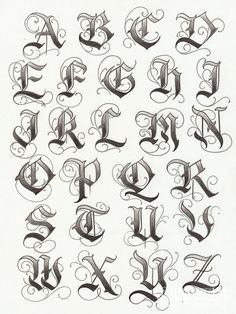 """Fancy"" Olde English (all capitals)"