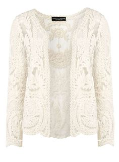 Embroidered lace cardigan - Dorothy Perkins