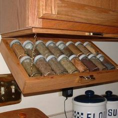 Spice rack space saver.