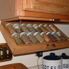 Spice rack space saver.