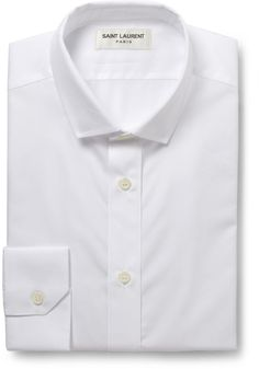 Saint Laurent White Cotton Shirt sur shopstyle.fr