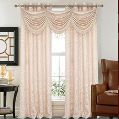 Madeline Crushed Satin Curtain Panels 53'' x 90'' - 2 Pack