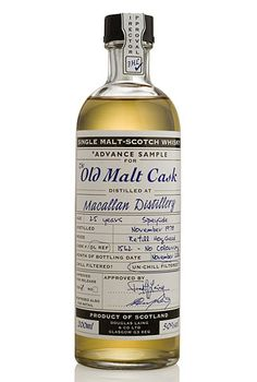 Douglas Laing 20 cl Old Malt Cask Whisky from The Macallan Distillery ~ it's bound to be excellent! Beverage Packaging, Bottle Packaging, Brand Packaging, Packaging Design, Product Packaging, Bourbon, Malt Whisky, Macallan Whisky, Scotch Whiskey