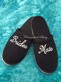 mens slippers , bestman slippers , black slippers , grooms  slippers , best man slippers , spa slippers , hotel slippers , personalised by personaliseddiamante on Etsy