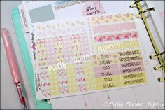 Shabby Chic #4 Planner Goodies Planner Stickers for Erin Condren Life Planner & Happy Planner