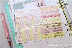 Shabby Chic #4 Planner Goodies Planner Stickers for Erin Condren Life Planner & Happy Planner