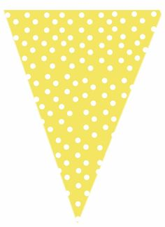 free yellow polk-a-dot printable banner