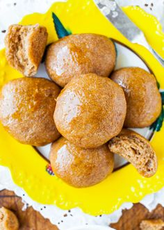 Averie Cooks » 100% Whole Wheat No-Knead Make Ahead Dinner Rolls with Honey Butter