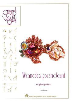*P pendant tutorial / pattern Wanda the fish  PDF instruction