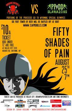 Cheyenne Capitdolls Roller Derby poster, design by: Sarah Hedlund 2012