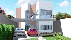 Projeto de casa | Sobrado Moderno com Pergolado - Cód. 106