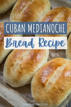 Try out this Cuban Medianoche Bread recipe, to make the best sweet, eggy bread that's the perfect compliment to the sandwich ingredients. | HostessAtHeart.com #bread, #breadrecipes, #homemadebread #baking Bread Machine Recipes, Bread Recipes, Cooking Recipes, Chicken Recipes, Medianoche Bread Recipe, Puerto Rican Bread Recipe, Perfect Pizza Dough Recipe, Guava Pastry, Dhal Recipe