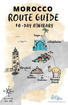 Morocco Route Guide: a 10-day travel itinerary #AfricaTravelDreams