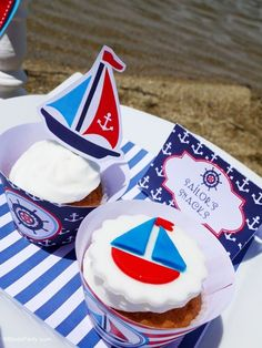 Preppy Nautical Birthday Party with DIY ideas on decorations, printables, food and favors - Great red, white and blue 4th of July or memorial day. #4thofjuly #redwhiteblue #nautical #nauticaldecor #nauticaltablescape Party Icon, Party Kit, Party Ideas, Diy Ideas, Food Ideas, Adult Birthday Party, Birthday Party Themes, Summer Birthday, Birthday Ideas