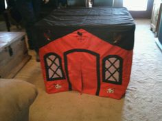 Barn card table tent