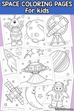 Coloring Pages for Kids Space Coloring Pages for Kids. 10 free printable space themed coloring pages for kids.Space Coloring Pages for Kids. 10 free printable space themed coloring pages for kids. Space Theme Preschool, Space Activities For Kids, Outer Space Crafts For Kids, Kids Crafts, Free Printable Coloring Pages, Coloring For Kids, Coloring Pages For Kids, Fairy Coloring, Activity Pages For Kids Free Printables