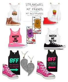 """BFF time"" by swagforever ❤ liked on Polyvore featuring Converse"