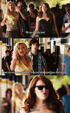 We are officially over ~ Easy A (2010) ~ Movie Quotes