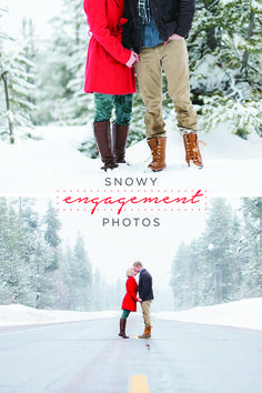 Looking for some inspiration to help plan your engagement photos? A winter wonderland backdrop up in the mountains is the perfect place to start!