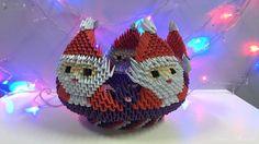 How to make 3D origami Bowl Santa Claus - part 2