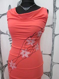 Ručně malované šaty oranž   Zboží prodejce IP original e6e5b0c921